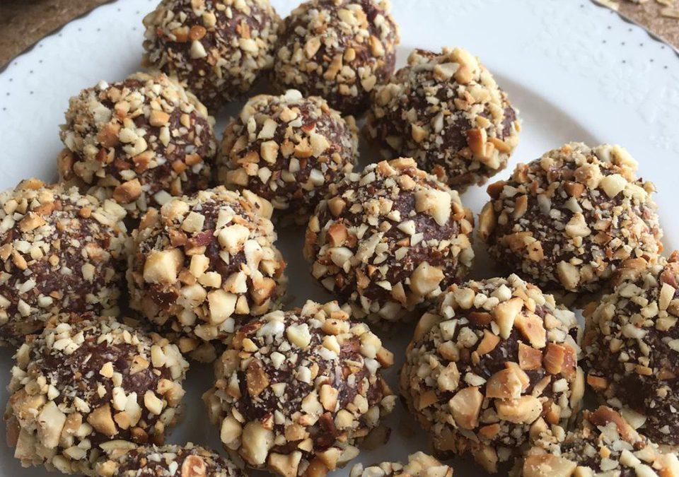 Çikolata&Fıstık Ezmeli Soğuk Protein Topları