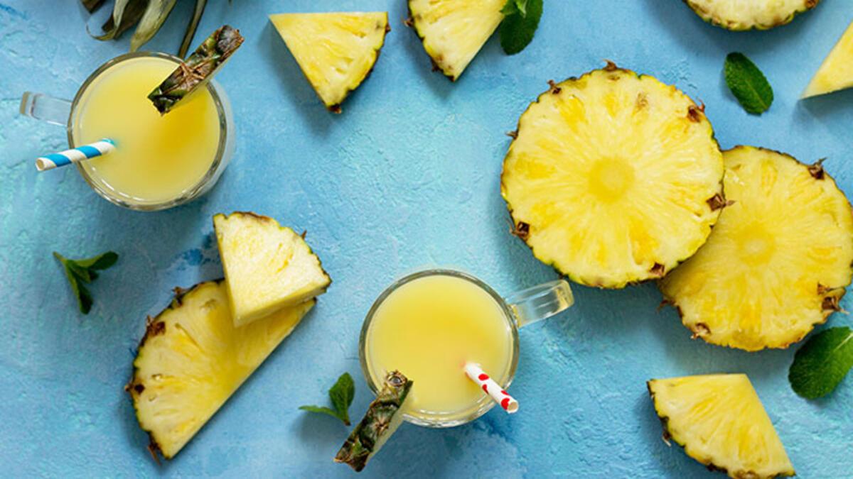 Ananaslı Elmalı Badem Sütü
